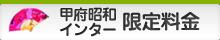 甲府昭和インター限定料金